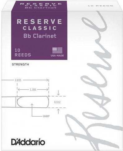 Scatola da 10 Pz. ance Reserve Classic Clarinetto Bb N°4.0+